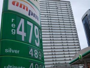 Posto de combustível em Chicago, nos EUA  - Crédito: Foto: Mira Oberman/AFP