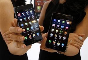 Samsung Galaxy S II, topo de linha da fabricante coreana - Crédito: Foto: Truth Leem/Reuters