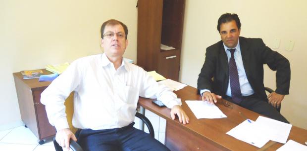 Áureo Garcia e Rosemar Mattos definem regras para a meia entrada na Expoagro - Crédito: Foto: Divulgação