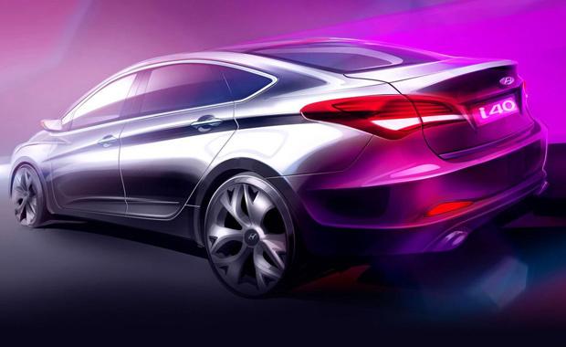 Desenho do Hyundai i40 sedã - Crédito: Foto: Divulgação