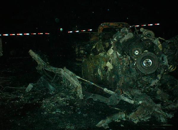 Carreta pegou fogo após acidente - Crédito: Foto: Divulgação/PRF