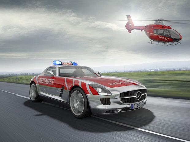 Ilustração da versão ambulância do Mercedes-Benz SLS AMG - Crédito: Foto: Divulgação