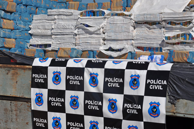 Maconha apreendida pela Polícia Civil em Goiás - Crédito: Foto: Divulgação/Polícia Civil