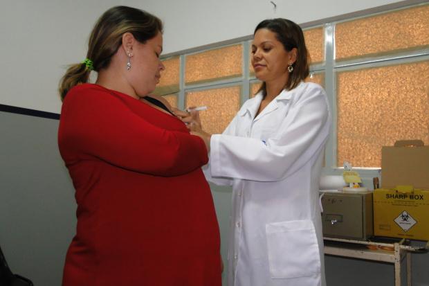 Gestantes são grupo muito suscetível a H1N1 e devem tomar a vacina contra gripe - Crédito: Foto: Hedio Fazan/PROGRESSO
