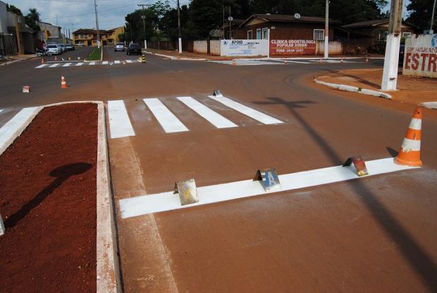 Realização da sinalização na rua 11 de Junho e adjacentes - Crédito: Foto: Thaise Dias