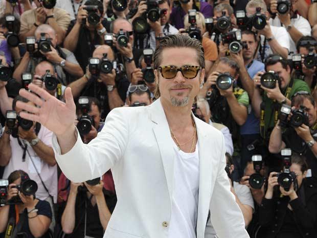 O ator Brad Pitt participa do lançamento do longa \'A árvore da vida\' no Festival de Cannes - Crédito: Foto: Reuters