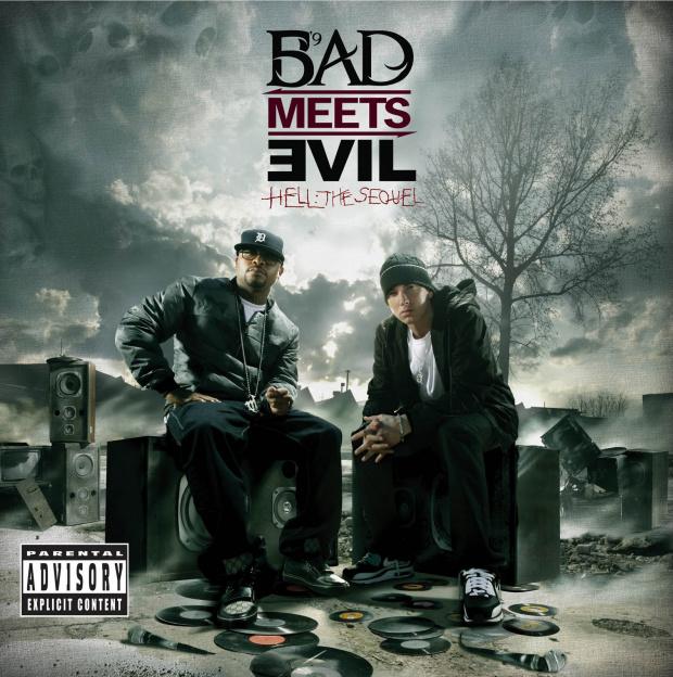 Capa do novo disco de Eminem com o projeto Bad Meets Evil - Crédito: Foto: Divulgação