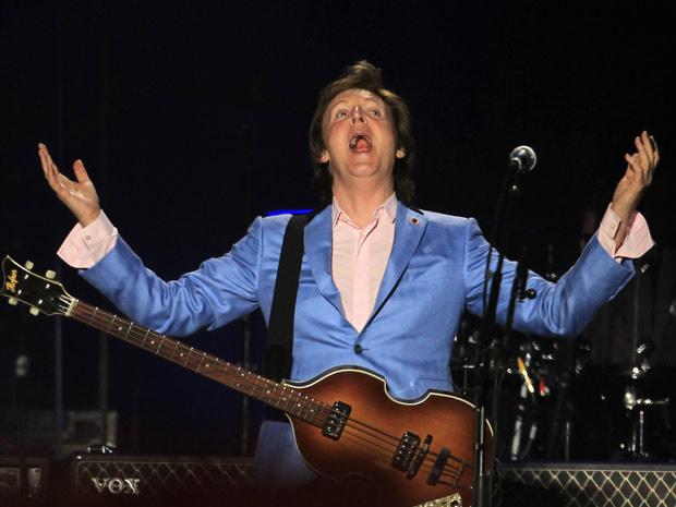 Paul McCartney apresenta sua \'Up and coming tour\' em Lima, no Peru, no dia 9 de maio - Crédito: Foto: AP