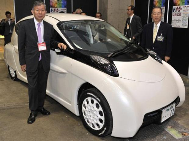 O carro elétrico SIM-Lei foi apresentado nesta quarta-feira - Crédito: Foto: Yoshikazu Tsuno/AFP