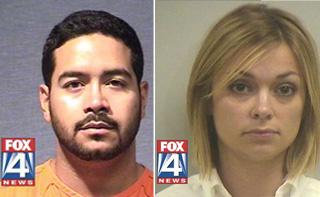 Christian Michael Flores e April St. John Alexander, professores do Texas acusados de terem relações impróprias com adolescentes - Crédito: Foto: Reprodução
