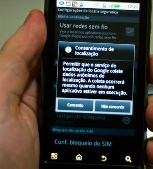 Serviço de localização no Android pede autorização do usuário - Crédito: Foto: Altieres Rohr/Especial para o G1