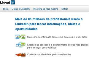 LinkedIn, rede social profissional  - Crédito: Foto: Reprodução
