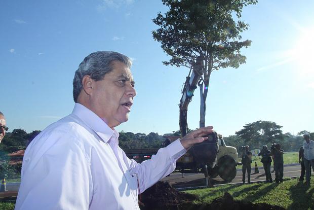 Governador acompanha inicio da terraplanagem e plantio de árvores - Crédito: Foto: Divulgação