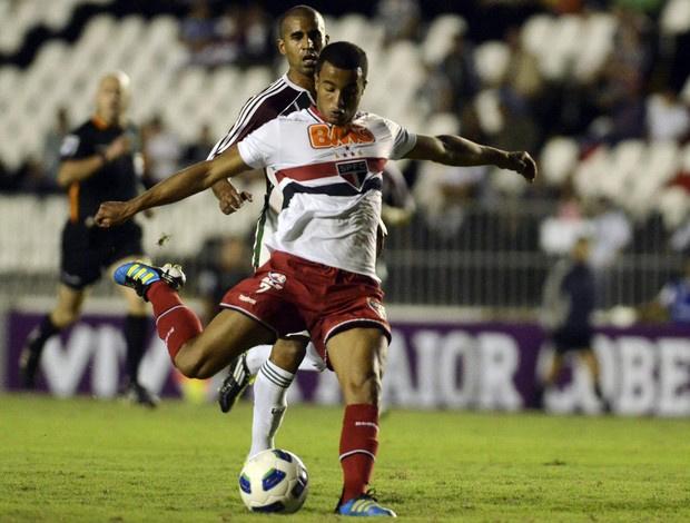 Lucas, do São Paulo, brilhou contra o Fluminense, em São Januário - Crédito: Foto: Alexandre Loureiro / VIPCOMM