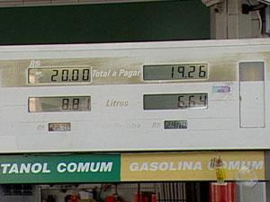 Etanol tem perdido a competitividade por causa da alta dos preços - Crédito: Foto: Reprodução/TV Morena