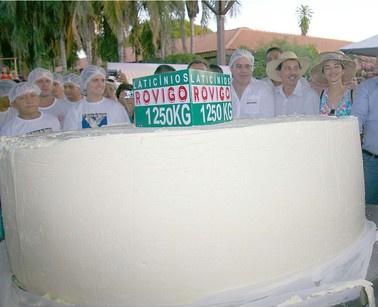 Queijo de mais de uma tonelada é produzido em Mato Grosso.  - Crédito: Foto: Divulgação