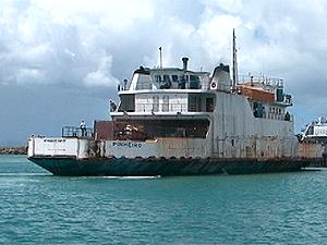 Mau tempo aumenta o tempo de viagem dos ferries  - Crédito: Foto: Reprodução/TV Bahia