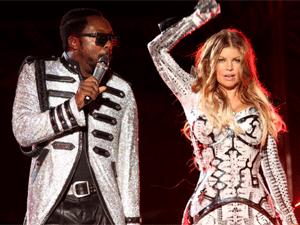 Will.i.am e Fergie, do Black Eyed Peas, em SP  - Crédito: Foto: Daigo Oliva/G1
