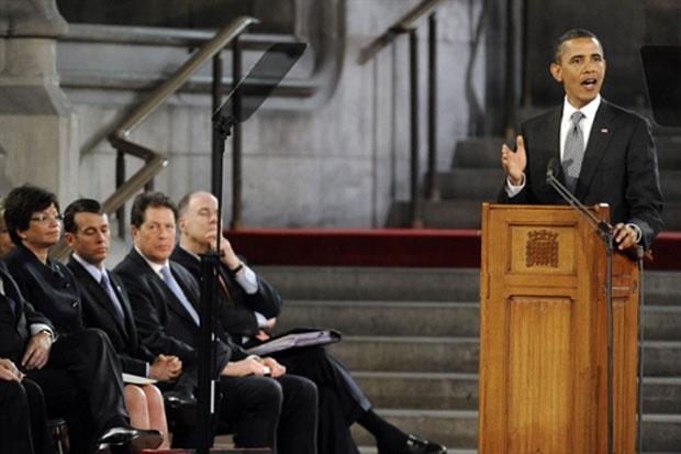 Obama profere discurso no Palamento britânico nesta quarta-feira - Crédito: Foto: AFP