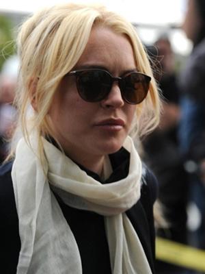 A atriz Lindsay Lohan - Crédito: Foto: AFP