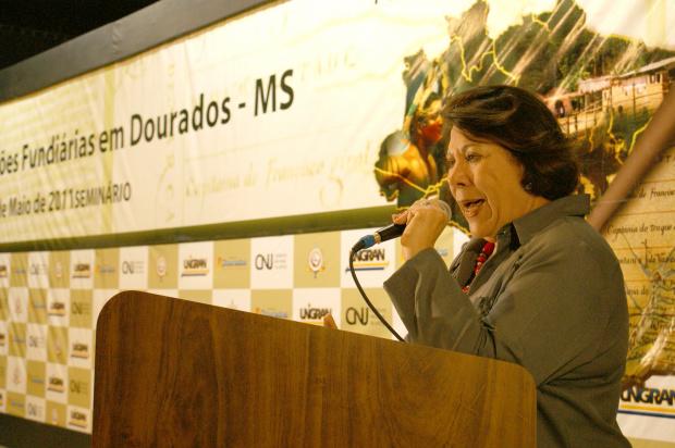 Ministra Eliane Calmon concedeu coletiva à imprensa de Dourados - Crédito: Foto: Hédio Fazan/PROGRESSO