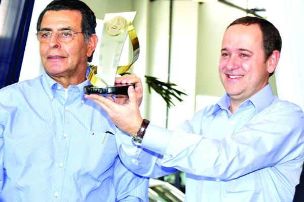 Sérgio Dias Campos, proprietário da Perkal, e o gerente pós-venda de Dourados Márcio Garcia -