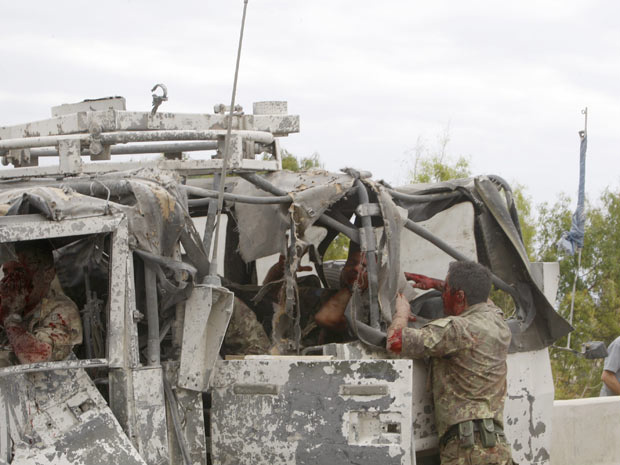 Soldados feridos após ataque desta sexta-feira - Crédito: Foto: AP