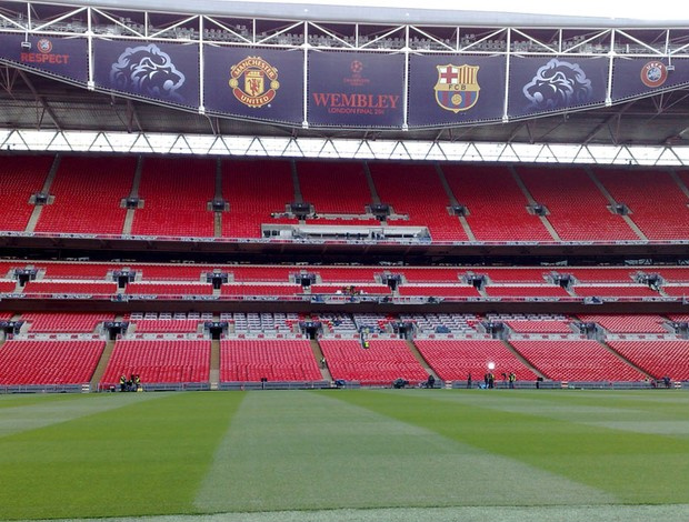 Estádio de Wembley está pronto para final da Liga dos Campeões - Crédito: Foto: Rodrigo Sirico/Globoesporte.com
