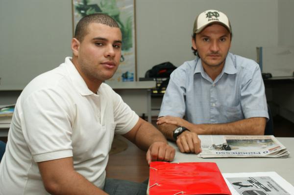 Matheus e Rodrigo são os coordenadores da campanha - Crédito: Foto: Hedio Fazan/PROGRESSO