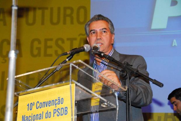 Reinaldo Azambuja durante a convenção nacional do PSDB em Brasília - Crédito: Foto : Divulgaação