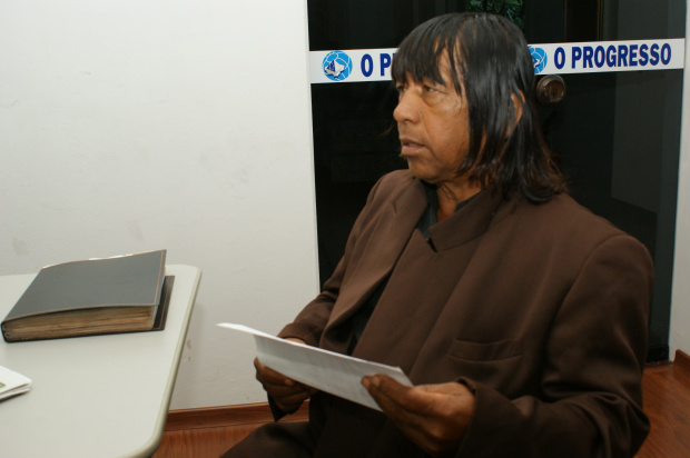 Renato de Souza diz que índios querem mais incentivo à produção - Crédito: Foto: Hedio Fazan/PROGRESSO