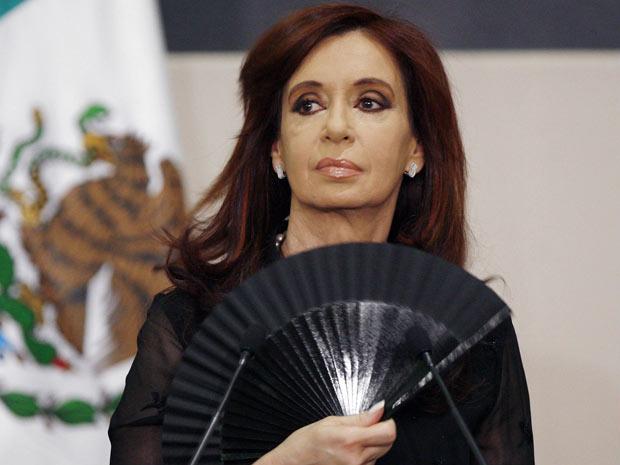 A presidente da Argentina, Cristina Kirchner, em visita à Cidade do México nesta terça-feira - Crédito: Foto: AP