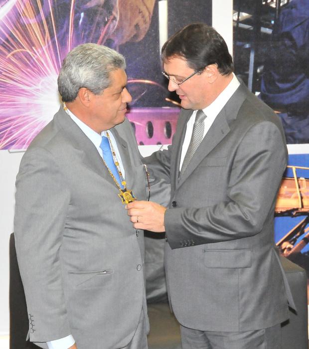 André recebeu Gran Colar da Ordem do Mérito Industrial - Crédito: Foto : Divulgação