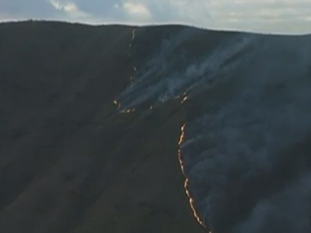 Fogo atinge entorno do Parque do Rola Moça - Crédito: Foto: Reprodução TV Globo