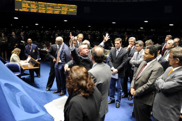 Sessão do Senado em que duas medidas provisórias foram derrubadas - Crédito: Foto : Moreira Mariz – Agência Senado