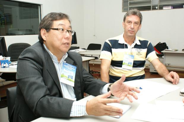 Presidente e vice do Sindipetro estiveram ontem na redação do O PROGRESSO - Crédito: Foto: Hédio Fazan/PROGRESSO