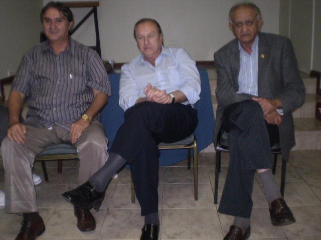 Eliseu, Eymael e Josmar Alderete durante encontro do PSDC na Capital - Crédito: Foto: Silva Junior