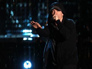 Eminem durante show em SP, no ano passado  - Crédito: Foto: Daigo Oliva/G1
