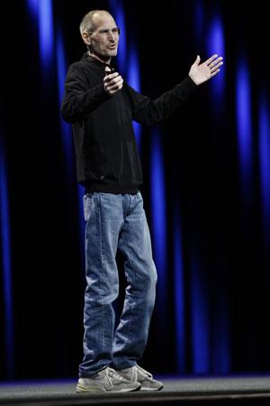 Steve Jobs, da Apple, durante apresentação em San Francisco na WWDC - Crédito: Foto: Paul Sakuma/AP