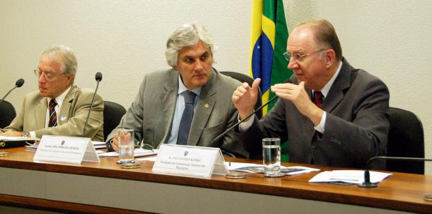 Delcídio durante reunião da Comissão de Assuntos Econômicos do Senado - Crédito: Foto : Divulgação