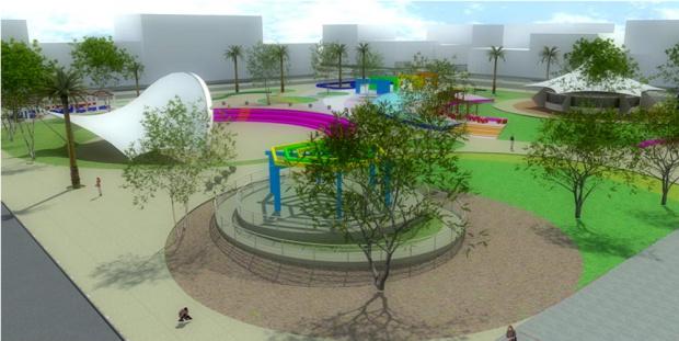 Revitalização da Praça será concluída com instalação da fonte musical - Crédito: Foto : Jorge Silva