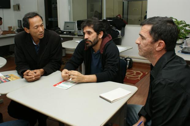 Vereador Elias Ishy esteve com assessores no jornal O PROGRESSO - Crédito: Foto: Hedio Fazan/PROGRESSO