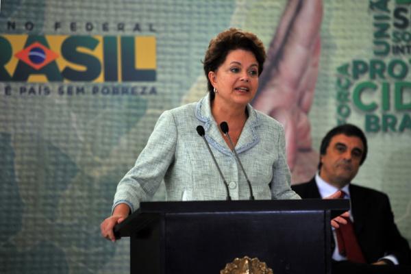 Dilma discursa durante o lançamento do plano Foto: Agência Brasil -
