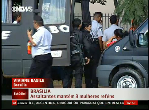 Ladrões libertam mulher grávida que era mantida refém - Crédito: Foto: Globonews.com