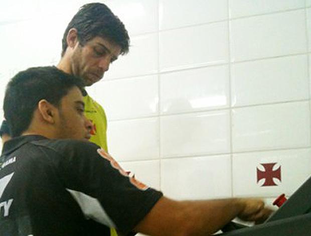 Juninho passou por bateria de testes em São Januário - Crédito: Foto: Vinicius Gonçalves/Vasco.com.br