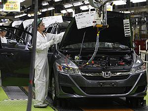 Linha de montagem da Honda no Japão  - Crédito: Foto: Shizuo Kambayashi/AP