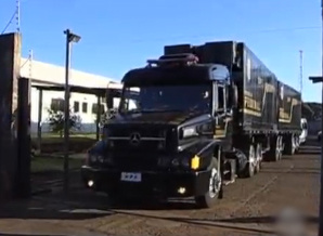 PF usa caminhão como delegacia em reserva -