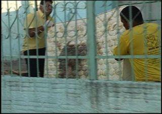 Havia vestígios de sangue em três cômodos da casa de acordo com a Polícia Civil. - Crédito: Foto: TV Morena