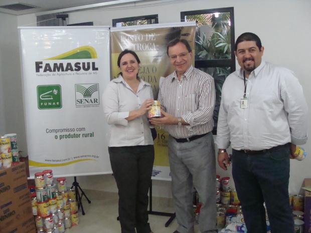 O alimento será repassado para instituições de caridade de Campo Grande - Crédito: Foto : Graziela Reis