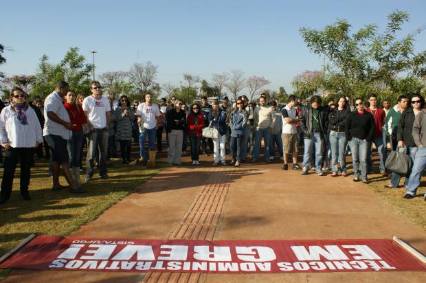 Servidores da UFGD já estão paralisados enquanto do HU permanecem em estado de greve - Crédito: Foto: Hedio Fazan/PROGRESSO